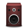 96x96px size png icon of speaker red