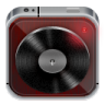96x96px size png icon of music player dark wood