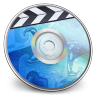 96x96px size png icon of iDVD BLUE Smoke