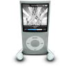 96x96px size png icon of iPodPhonesSilver