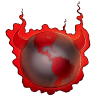 96x96px size png icon of Bad Guy Earth