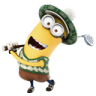 96x96px size png icon of Minion Playing Golf
