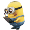 96x96px size png icon of Minion Reading