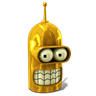 96x96px size png icon of Bender Glorious Golden