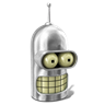 96x96px size png icon of Bender Shiny Metal