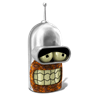 96x96px size png icon of Bender Sober