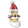 96x96px size png icon of Robot Santa