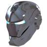 96x96px size png icon of Ironman Mask 2 Silver