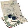 96x96px size png icon of tracking route