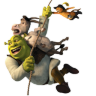 96x96px size png icon of Shrek and Donkey and Puss 2