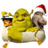 96x96px size png icon of Shrek and Donkey and Puss