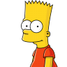 96x96px size png icon of Bart Simpson 01