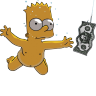 96x96px size png icon of Bart Simpson 06 Nirvana Nevermind