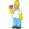 96x96px size png icon of Homer Simpson 01 Donut