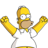 96x96px size png icon of Homer Simpson 04 Happy