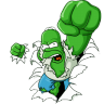 96x96px size png icon of Homer Simpson 05 The Incredible Homer