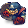 96x96px size png icon of Comics Captain America