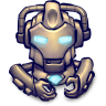 96x96px size png icon of Comics Hero Grey