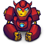 96x96px size png icon of Comics Hero Red 2