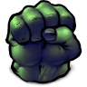 96x96px size png icon of Comics Hulk Fist