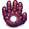 96x96px size png icon of Comics Ironman Hand