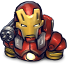 96x96px size png icon of Comics Ironman Red