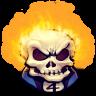 96x96px size png icon of Comics Johnny Blaze
