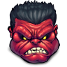 96x96px size png icon of Comics Rulk Angry
