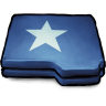96x96px size png icon of Folder Blue Star