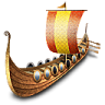 96x96px size png icon of viking ship