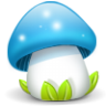 96x96px size png icon of mushroom blue