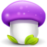96x96px size png icon of mushroom purple
