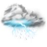 96x96px size png icon of thunder lightning storm