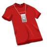 96x96px size png icon of Apple Store Tshirt Red