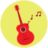 96x96px size png icon of Guitar Music
