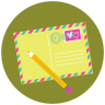 96x96px size png icon of Write Pencil Mail
