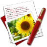 96x96px size png icon of Diary Photo Sunflower