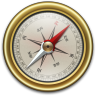 96x96px size png icon of Compass Gold