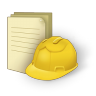 96x96px size png icon of document construction