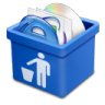 96x96px size png icon of blue trash full