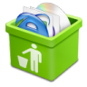 96x96px size png icon of green trash full