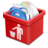 96x96px size png icon of red trash full