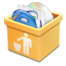 96x96px size png icon of yellow trash full