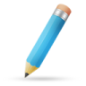 96x96px size png icon of pencil blue