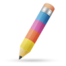 96x96px size png icon of pencil color