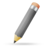96x96px size png icon of pencil grey
