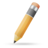 96x96px size png icon of pencil orange