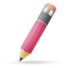 96x96px size png icon of pencil pink