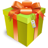 96x96px size png icon of gift box