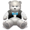 96x96px size png icon of Gift Light Grey bear